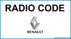 Renault Auto Radio Code