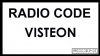Visteon Auto Radio Code