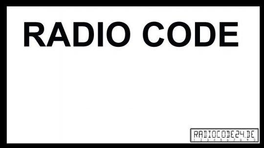 passend für Alpine Auto Radio Code