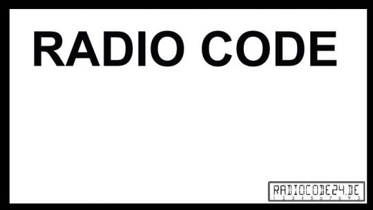 passend für Blaupunkt Auto Radio Code