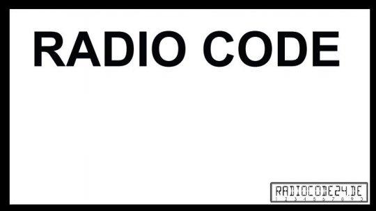 passend für Grundig Auto Radio Code