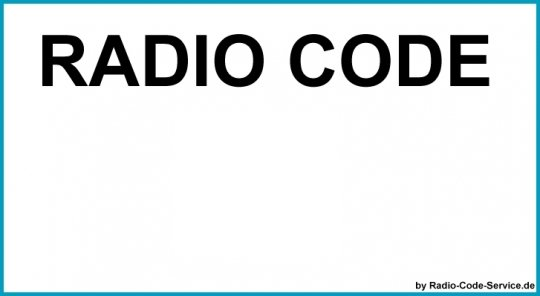 Alfa Romeo Bosch Auto Radio Code