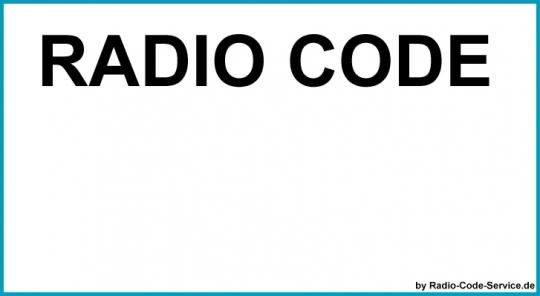 passend für JVC Auto Radio Code